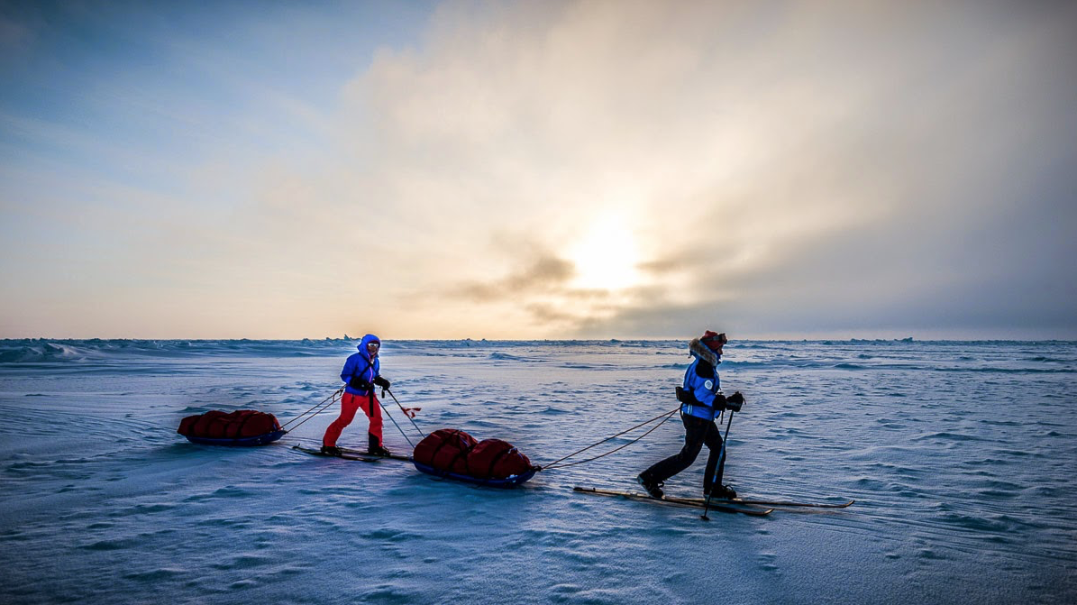 Ice crossing, North Pole. Photo: Alex Buisse