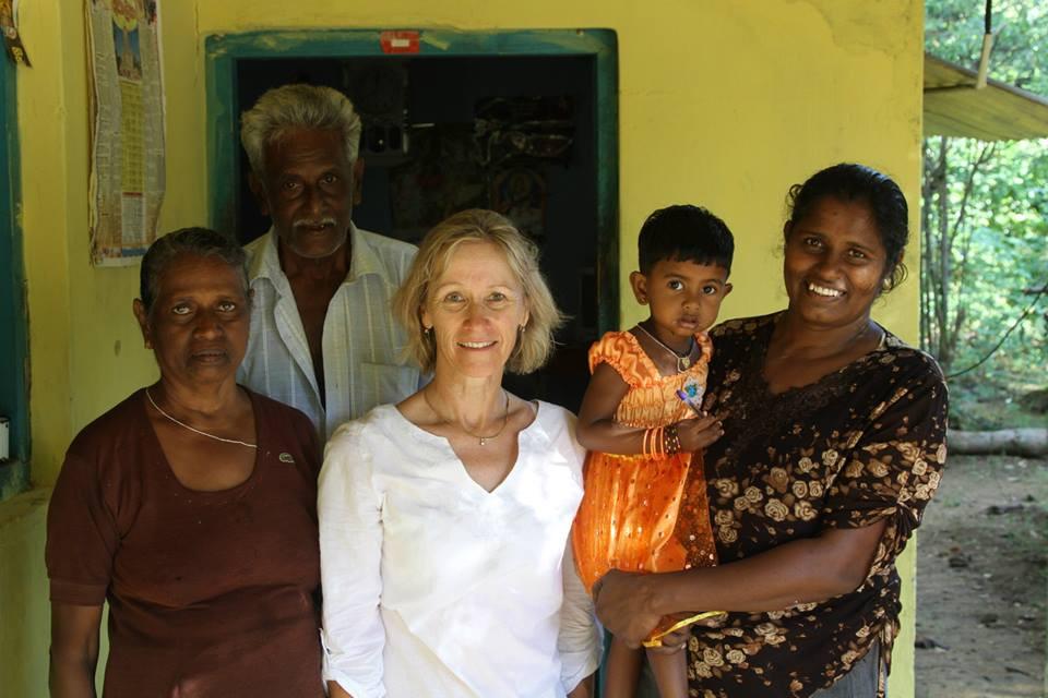 Penny with Sri Lankan Ladies